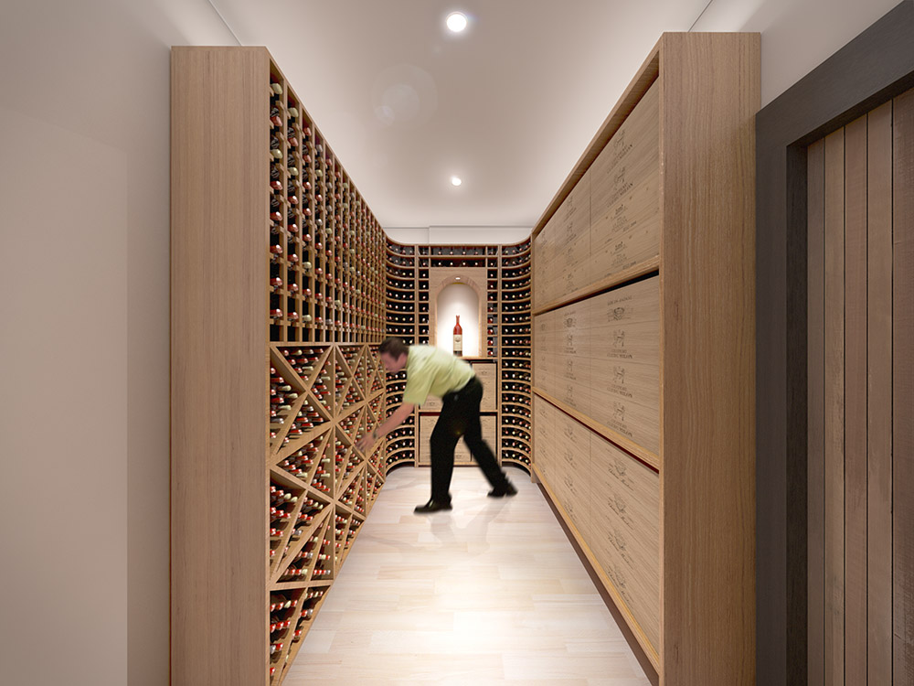 Commercial CGI Wine Cellar by Fat Sumo
