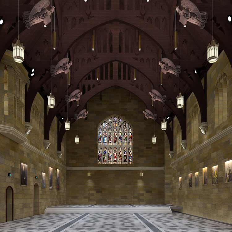 Sydney Great Hall Interior renders