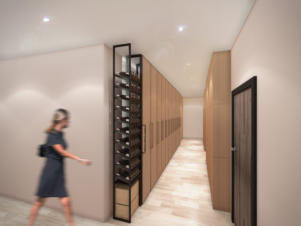 Wine cellar design revit render 1